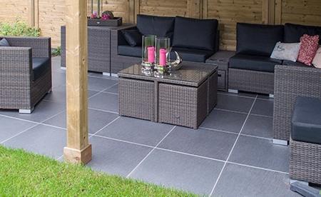 Tuintegels natuursteen keramisch beton dalfsen - Dek een terras met tegels ...